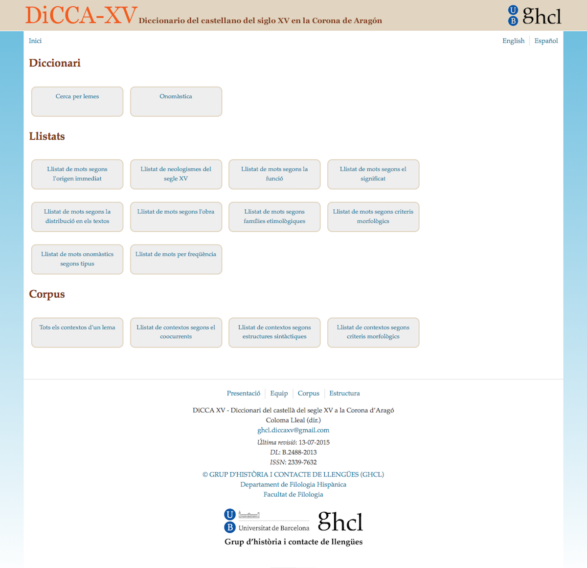 DiCCA-XV